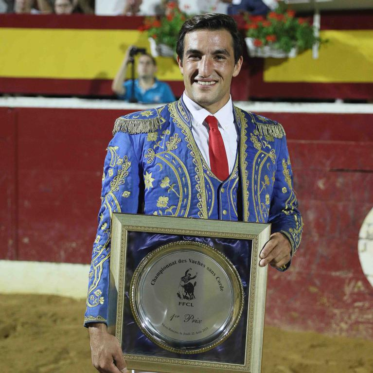 Champion de france des vaches sans corde 2019, Louis Navarro